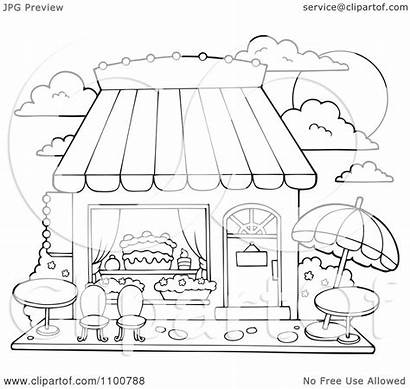 Candy Cake Clipart Outlined Outdoor Illustration Seating