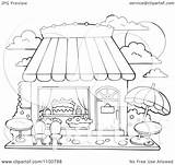 Candy Cake Clipart Outlined Outdoor Seating Illustration Vector Royalty Visekart Background sketch template