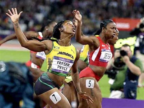 Running in an empty stadium in kingston at the joa/jaaa's destiny series, she decimated the field in the first of three heats from a rocket start, to finish ahead of former world championship finalist natasha morrison. Carmelita Jeter gets silver in women's 100 meters | Fraser pryce, Olympics, Track and field athlete