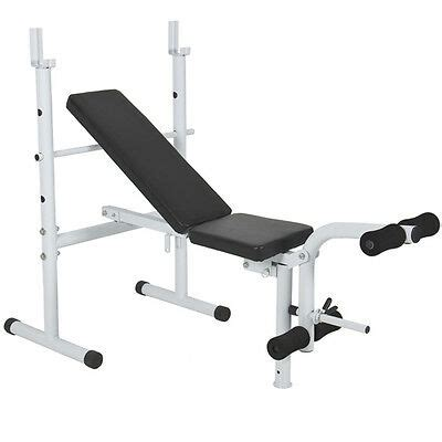 Home Bench Press Machine by Deluxe Adjustable Flat Incline Weight Bench Press Leg Curl