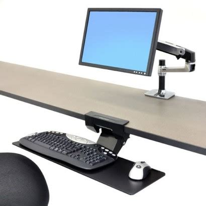support ecran pc pour bureau bras pour clavier sous bureau neo flex