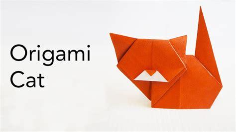 easy origami cat tutorial designed  keiji kitamura