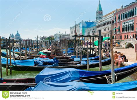 Boat Dealers Near Venice by Port San Marco At Venice Italy Editorial Image