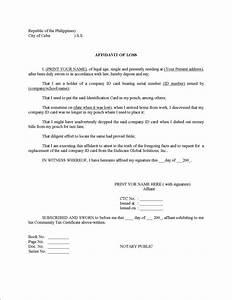 example affidavit of complaint With template of an affidavit
