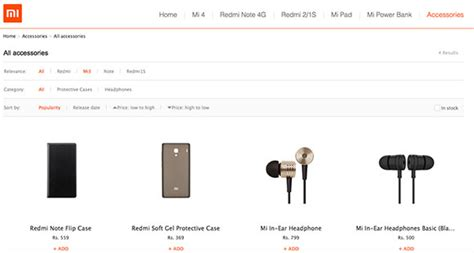 Xiaomi Retails Accessories In India Via Official Website