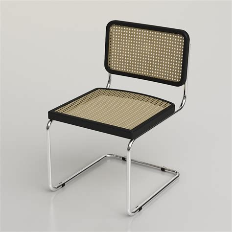 3d marcel breuer cesca chair high quality 3d models