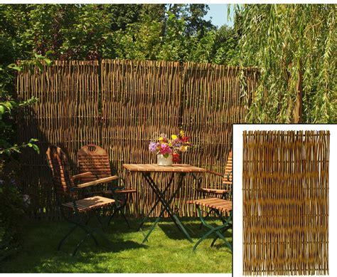 Weiden Pflanzen Als Sichtschutz by Weiden Sichtschutz Naturbelassene Weidenruten 180x90cm