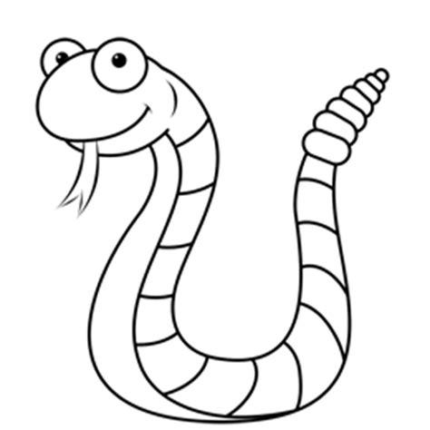 Cartoon Easy Snake Drawing