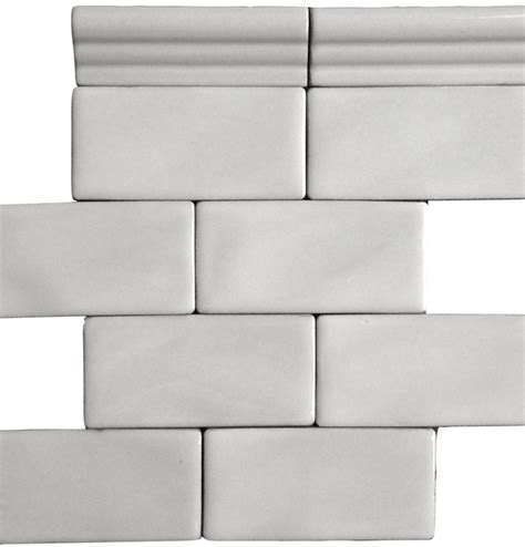 4x12 subway tile bullnose antique white 3 x 6 quot handcrafted glazed ceramic