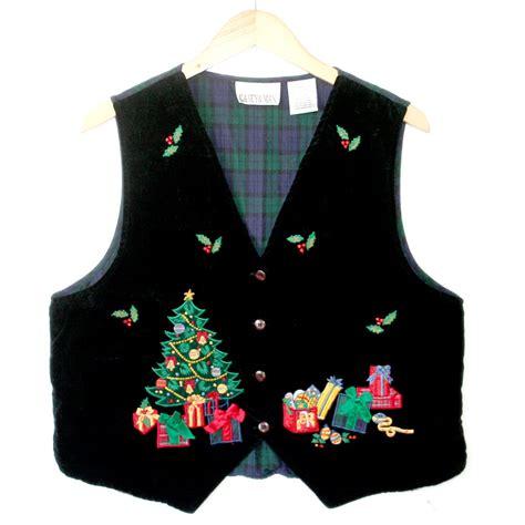 black velvet christmas tree ugly christmas vest the ugly