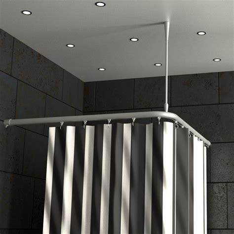 Duschvorhangstange Aluminium Mit Innenlaufrohr L Form