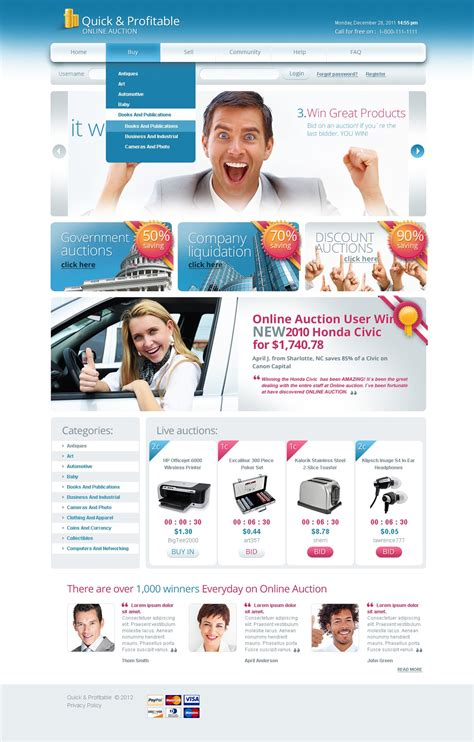 Bid Auction Websites Auction Website Template 39617