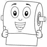 Toilet Paper Coloring Character Happy Smiling Illustration Clipart Vector Eps Isolated Background  Dreamstime Illustrations Vectors Preview sketch template
