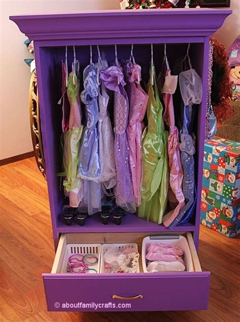 toddler dress up closet dress up armoire as seen on about family crafts
