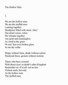 The Hollow Men, T.S. Eliot, Part 3   Poetry   Poetry