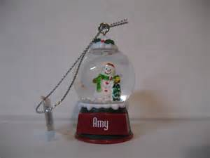 ganz glass snow globe snowman christmas decoration ornaments personalized names ebay