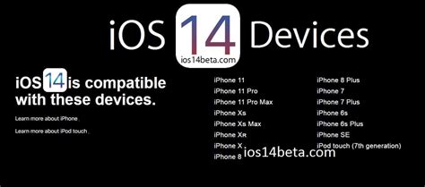 iOS 14 Supported Devices - iOS 14 Beta Download