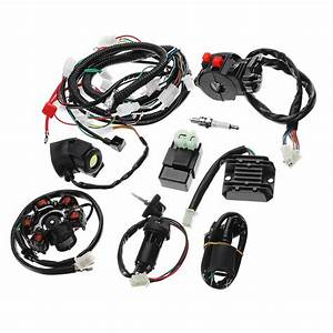 Full Electrics Wiring Harness Loom Cdi Coil For Gy6 150cc