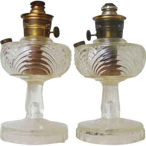pair aladdin oil kerosene ls glass w nu type b model