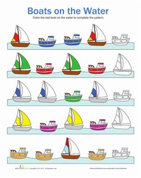 Boat Pictures For Kindergarten water forms worksheets for kindergarten worksheets boats