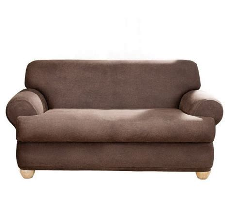 sure fit stretch t cushion sofa slipcover sure fit stretch faux leather t cushion sofa slipcover