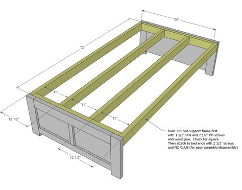 daybed  storage woodworking plans woodshop plans