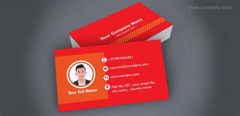 business card template  corel draw format