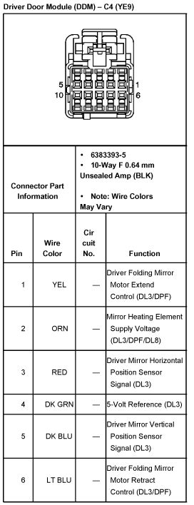 Rearview Mirror Wiring Diagram 2005 Chevy Silverado by What Are All 5 Wires For In A Power Mirror On A 2000 2500