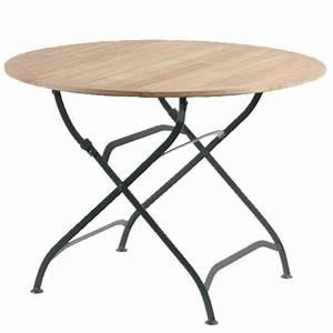 Table Pliante Noire : siena garden 932084 peru ii table pliante acier plat teck ~ Teatrodelosmanantiales.com Idées de Décoration