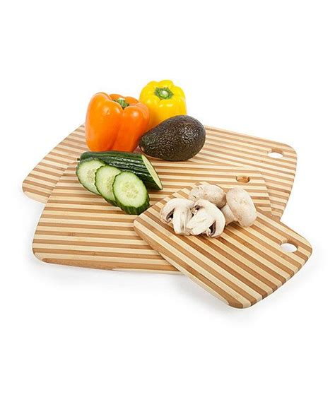 Zulily Kitchen Gadgets by Pinstripe Cutting Board Set By Bamboo On Zulily