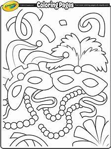 Mardi Gras Masks Coloring Page