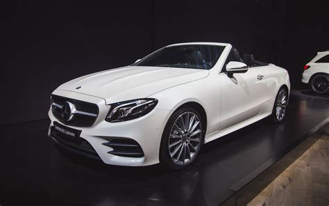 convertible mercedes 2018 mercedes benz e class cabriolet makes its u s debut