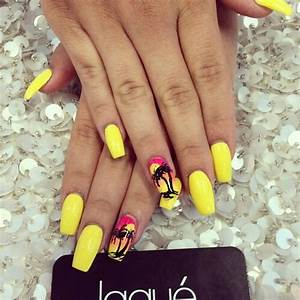 Pretty yellow nails image by patrisha on Favim