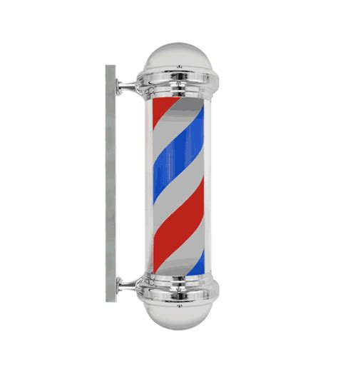 new 30 quot barber shop pole light white blue stripes