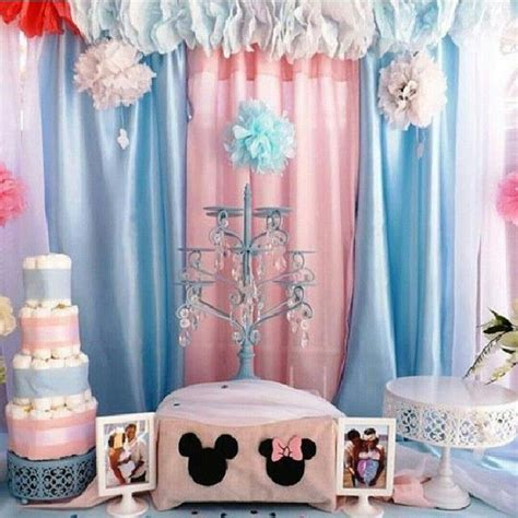 Mickey And Minnie Decorations - mickey and minnie baby shower ideas baby shower