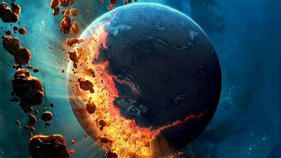 Planet Space Asteroids Falling Earth Wallpapers Gravity