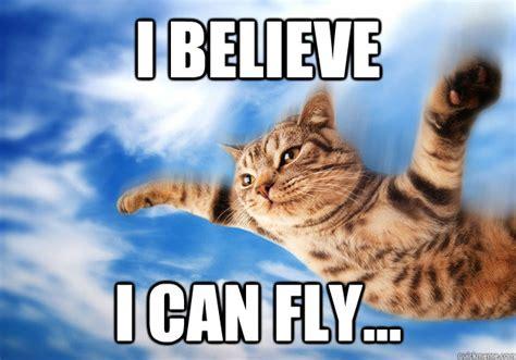 I Believe I Can Fly Meme - i believe i can fly i believe i can fly cat quickmeme