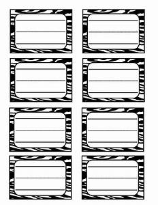 6 best images of zebra label borders free printable With free zebra label templates