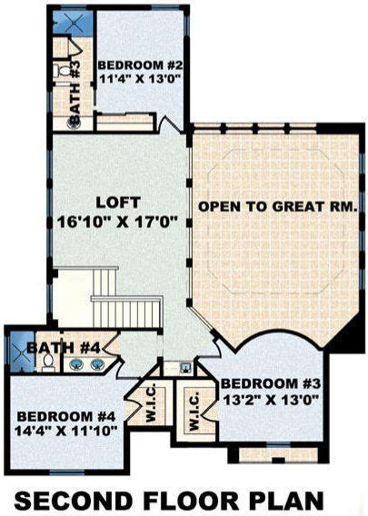 4 Bedroom 4 Bath Contemporary House Plan #ALP 08F9