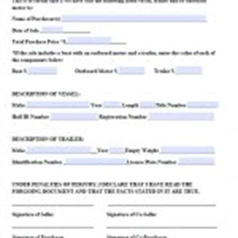 Boat Registration Jefferson County Alabama by Download Colorado Bill Of Sale Forms And Templates