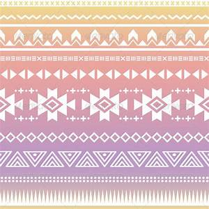 Tribal Aztec Ombre Seamless Pattern   GraphicRiver