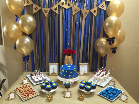 prince baby shower decorations quot le petit prince quot gold navy baby shower sarah combs events