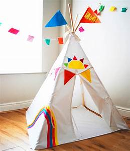 Tipi Little Nice Things : rainbow teepee personalised by wild things funky little dresses ~ Preciouscoupons.com Idées de Décoration
