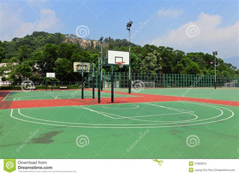 terrain de basket 224 ext 233 rieur photographie stock image 37893012