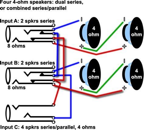series parallel speaker wiring diagram get free image