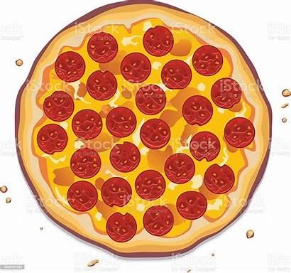 Pizza Pepperoni Vector Illustration Slices Italian Clipart