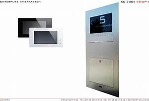 Briefkasten Mit Kamera : unterputz briefkasten edelstahl komplettset mit video t rsprechanlage kamera kc 2065 steel ~ Frokenaadalensverden.com Haus und Dekorationen