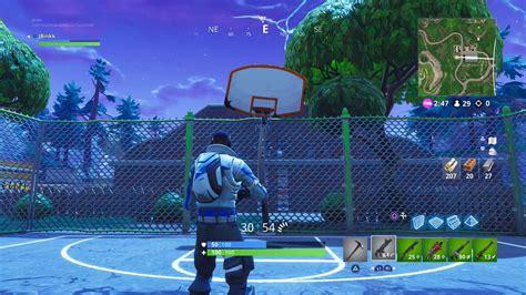 find   basketball hoops  fortnite battle