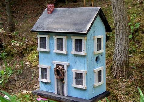 Birdhouse Folk Art Rustic Country Primitive Saltbox Home Decor