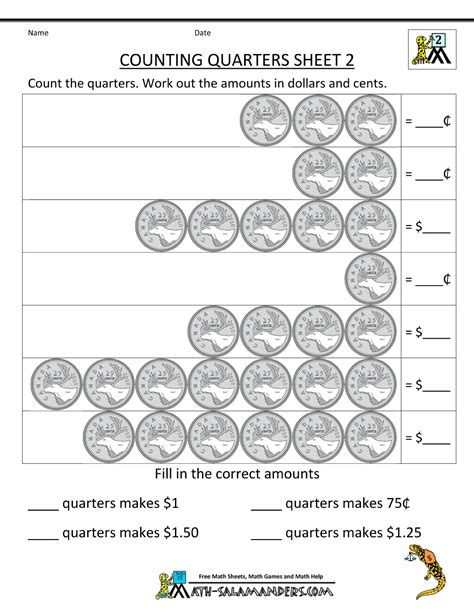 money worksheets canada